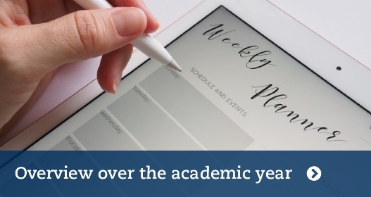 Overview over the academic year
