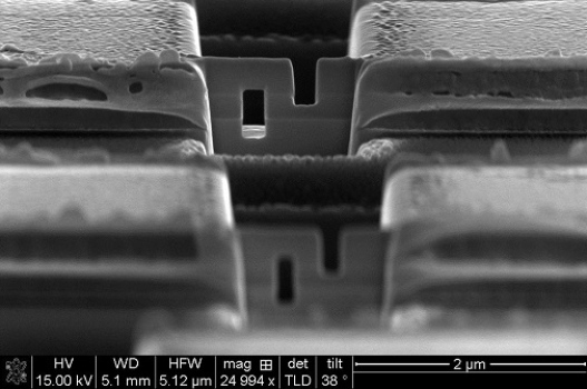 SEM (Scanning Electron Microscope) image of a nano-scale Josephson junction