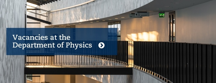 vacancies at the Department of Physics