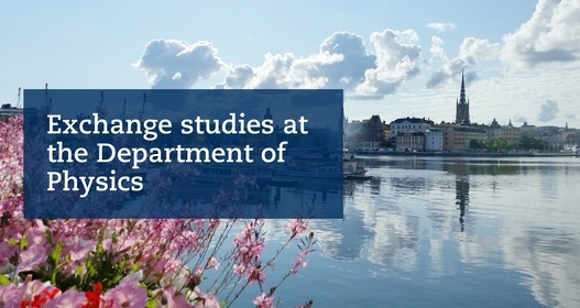 Exchange studies at the Department of Physics