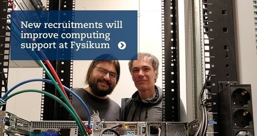 computing support at Fysikum